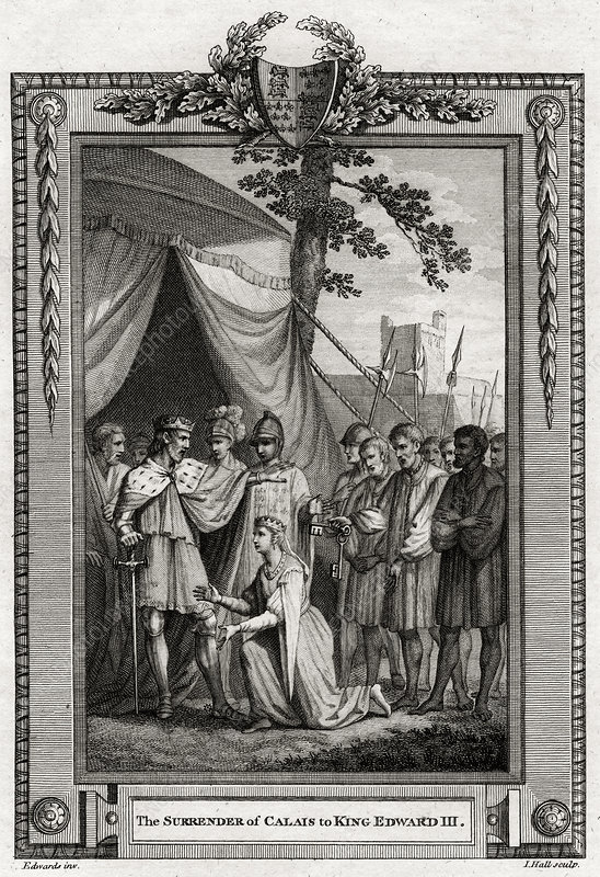 The Surrender of Calais to King Edward III', 1347