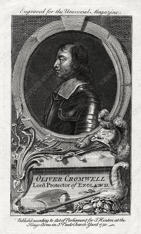 Oliver Cromwell, Lord Protector of England, 1750
