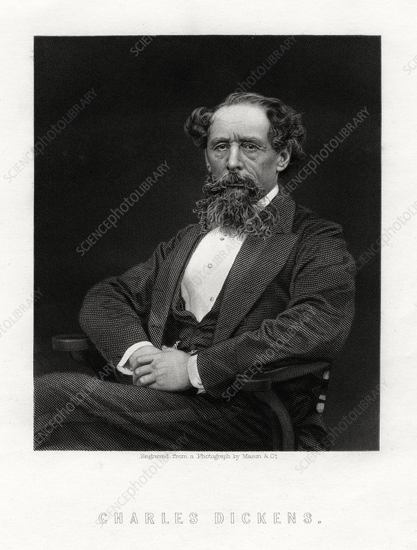 Charles Dickens, English novelist and journalist, 1876