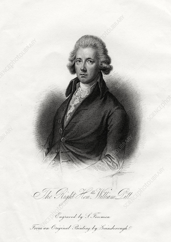 William Pitt the Younger, British statesman, 19th century