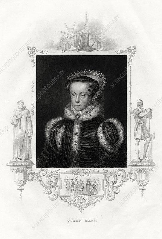 Mary I, also known as Mary Tudor, 1860