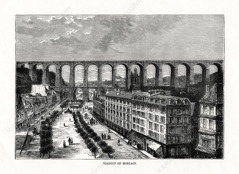 The Viaduct at Morlaix, France, 1879