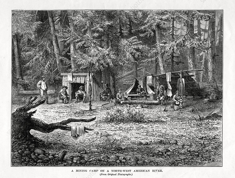 A Mining Camp on a North-West American River', 1877