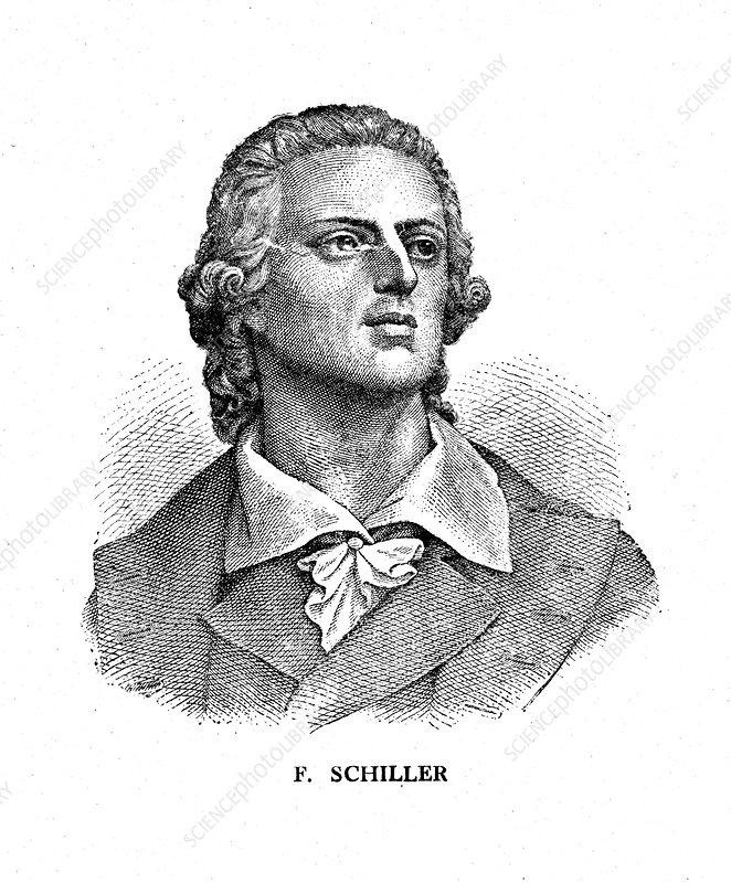 Friedrich Schiller, German poet, philosopher, and dramatist