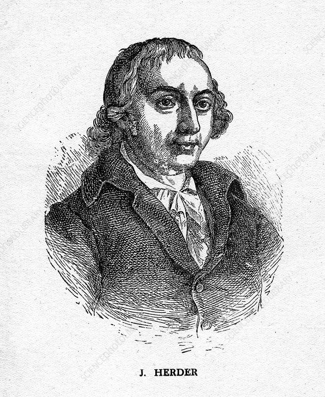 Johann Gottfried von Herder, German poet, and philosopher
