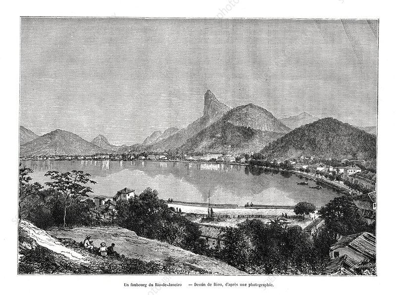 A suburb of Rio de Janeiro, Brazil, 19th century