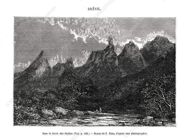 Serra dos orgaos, Brazil, 19th century
