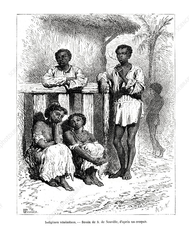 Indigenous people, Venezuela, 19th century