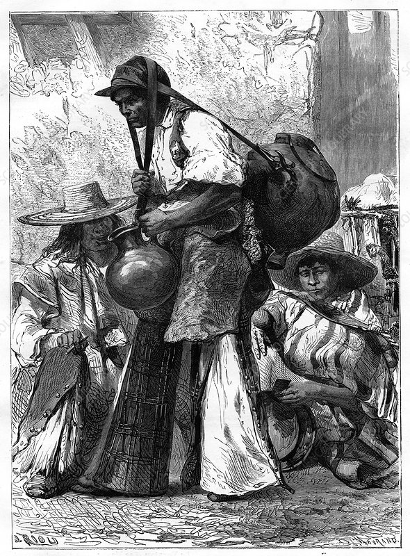 Water vendor, Mexico, 19th century