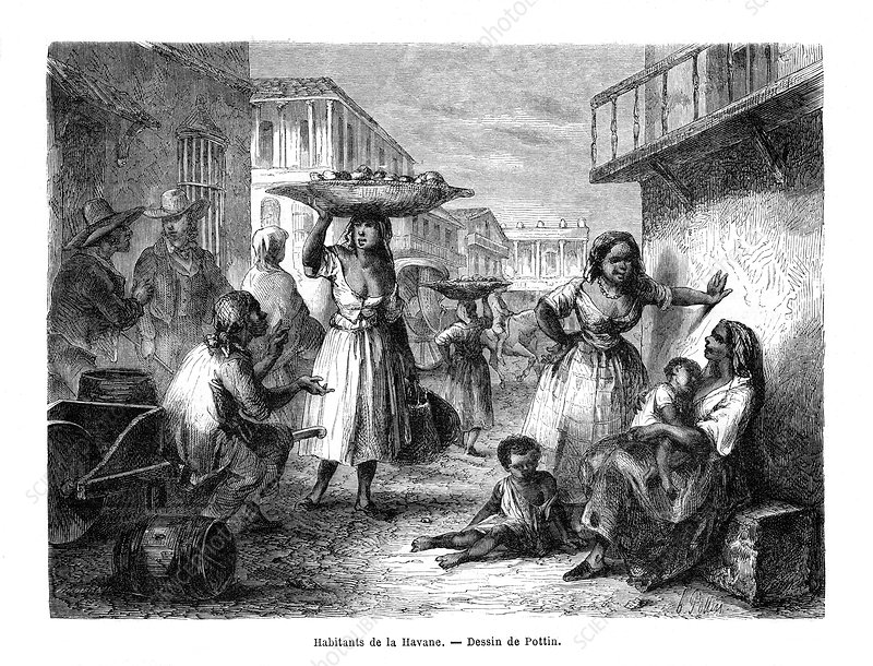 Inhabitants of Havana, Cuba, 19th century