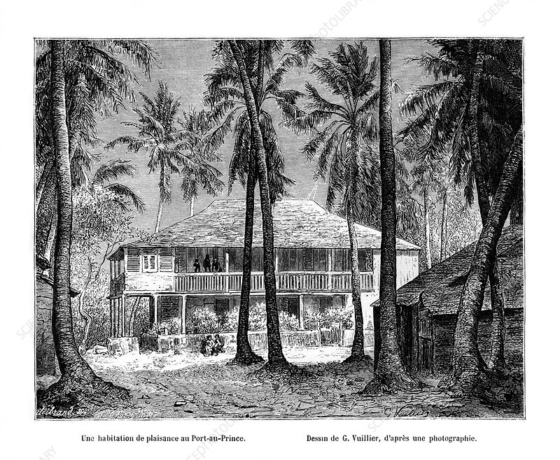 Tropical building, Port-au-Prince, Haiti, 19th century
