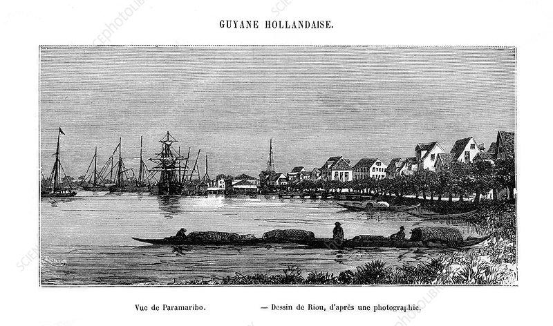 Paramaribo, Republic of Suriname, 19th century
