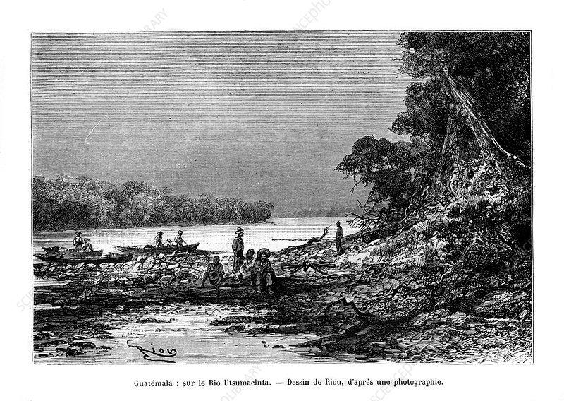 The Usumacinta River, Mexico and Guatemala