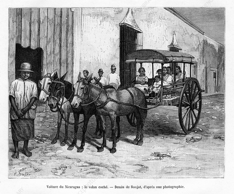 Stagecoach, Nicaragua, 19th century