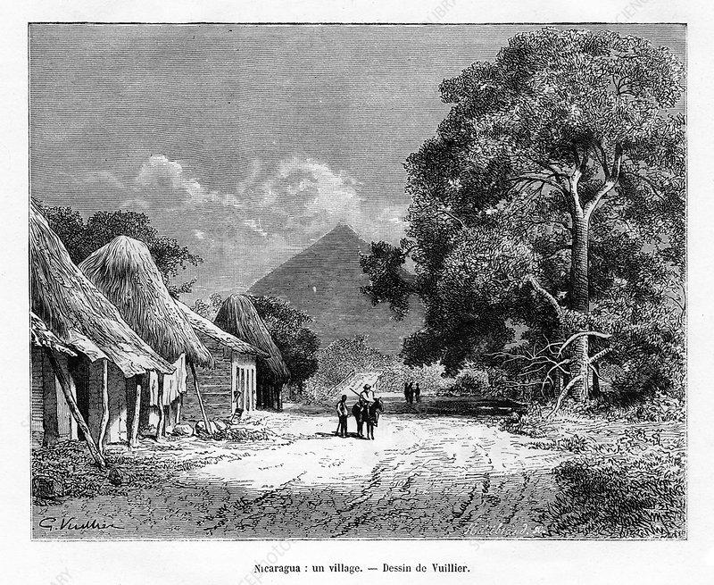 A village, Nicaragua, 19th century