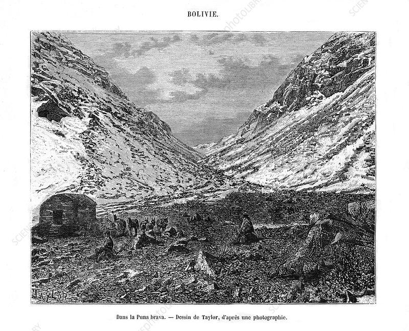 Altiplano or 'Puna', Bolivia, 19th century
