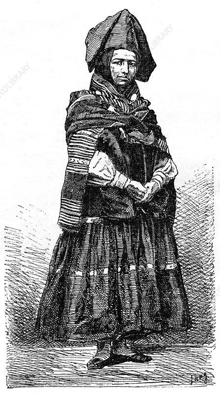 Aymara Indian, La Paz, Bolivia, 19th century