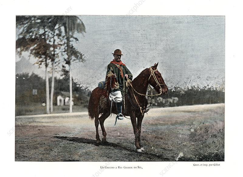 Cattle herder, Rio Grande do Sul, Brazil, 19th century