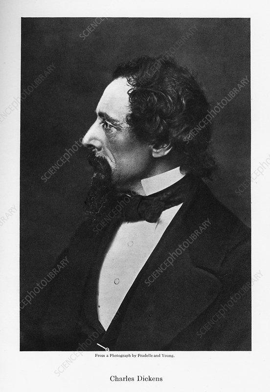 Charles Dickens, English novelist, c1860s