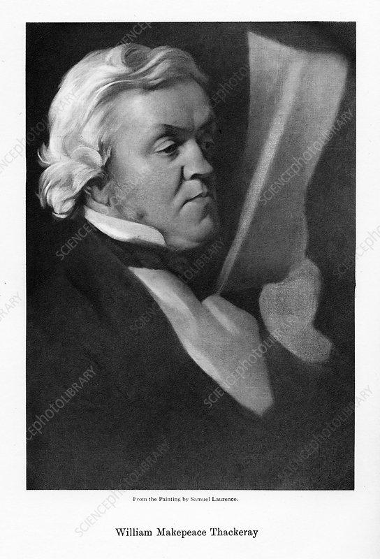 William Makepeace Thackeray, English novelist, c1864