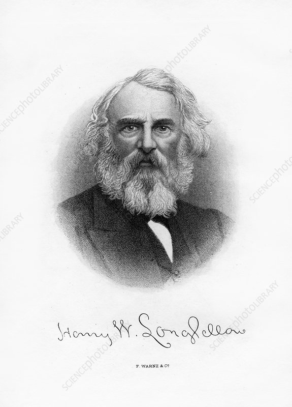 Henry Wadsworth Longfellow, American poet and teacher