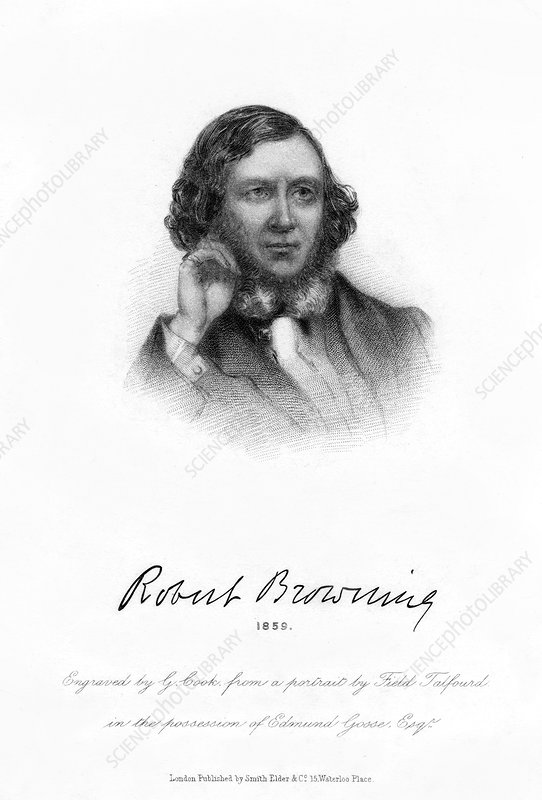 Robert Browning, English poet and playwright, 1859
