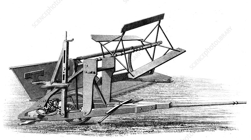 Cyrus McCormick's reaping machine, 1862