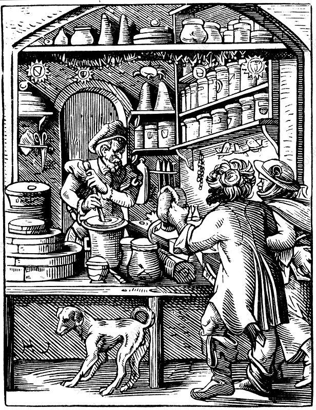 The Druggist's Shop, 1568