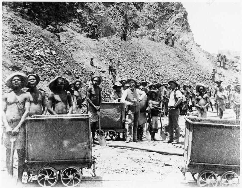 De Beers diamond mines, South Africa, c1885