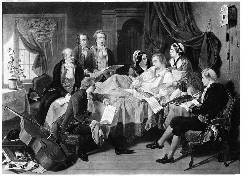 The Deathbed of Mozart', 1791