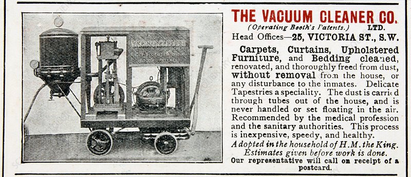 Advertisement for The Vacuum Cleaner Company, 1906