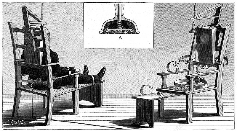 Execution by electric chair, 1890