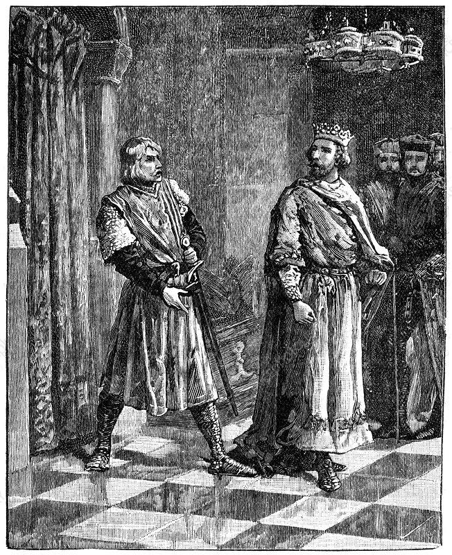 Simon de Montfort quarrelling with Henry III, 1257