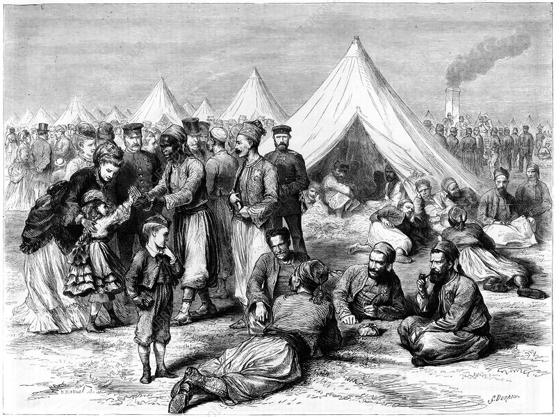 French prisoner of war camp at Wahn, 1870