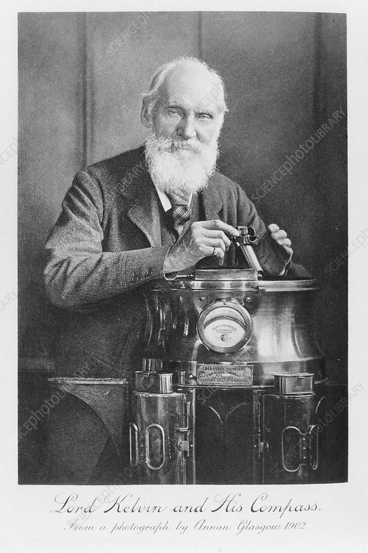 Lord Kelvin and his compass, 1902