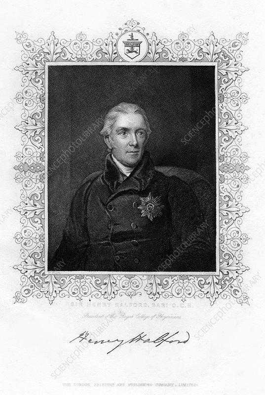 Sir Henry Halford, British physician, 19th century