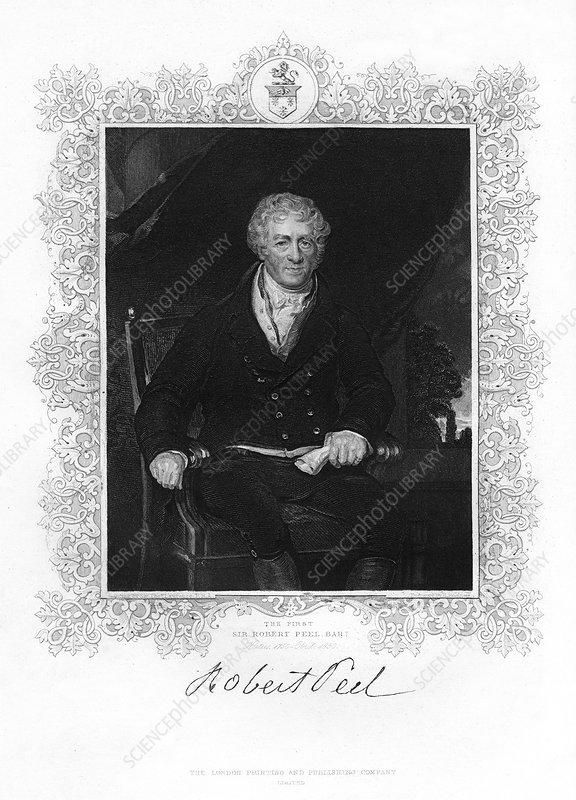 Sir Robert Peel, British industrialist, 19th century