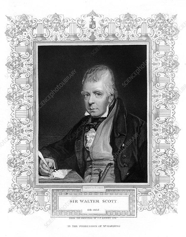 Sir Walter Scott, Scottish historical novelist and poet