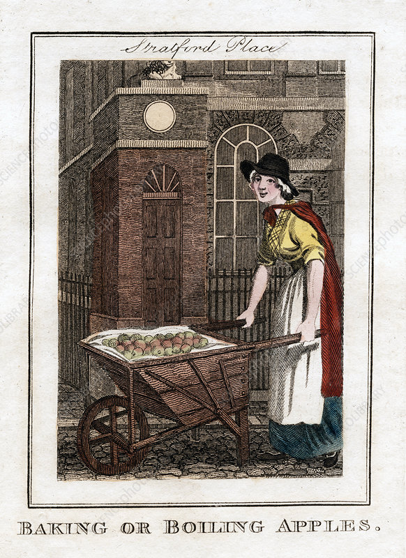 Baking or Boiling Apples', Stratford Place, London, 1805
