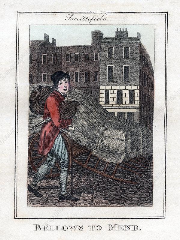 Bellows to Mend', Smithfield, London, 1805