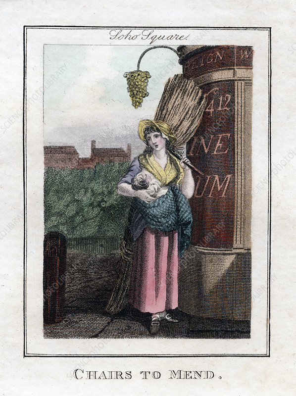 Chairs to Mend', Soho Square, London, 1805