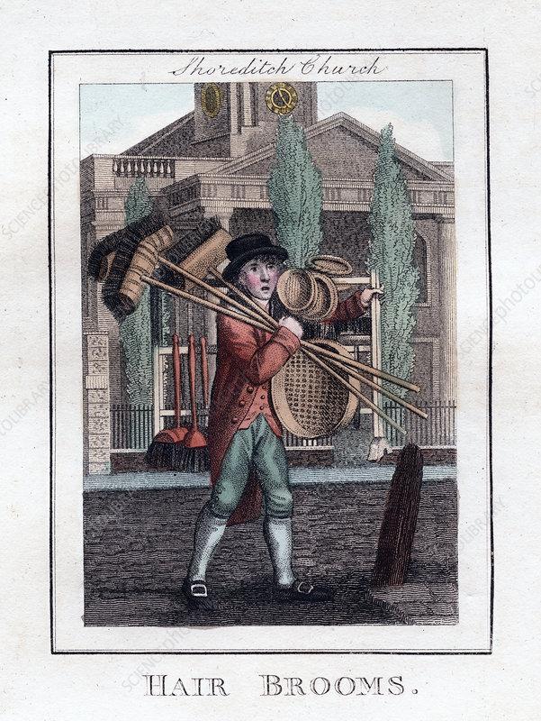 Hair Brooms', Shoreditch Church, London, 1805