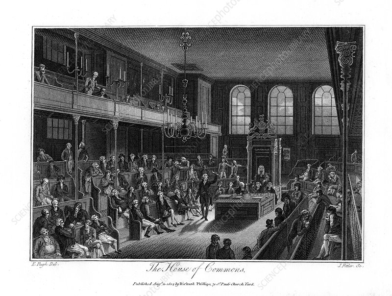 The House of Commons, London, 1804