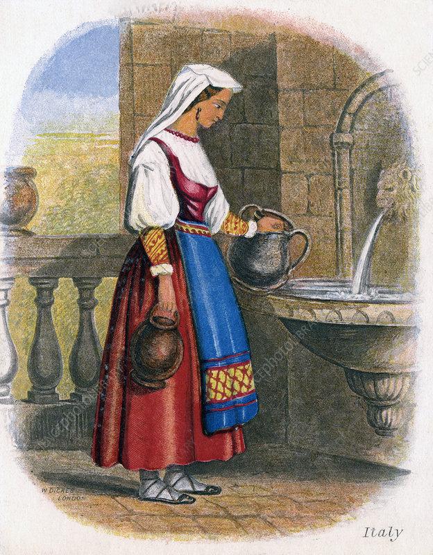Italian Woman collecting Water', 1809