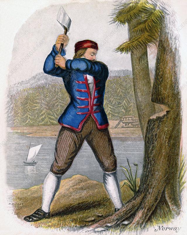 Norwegian Woodcutter', 1809