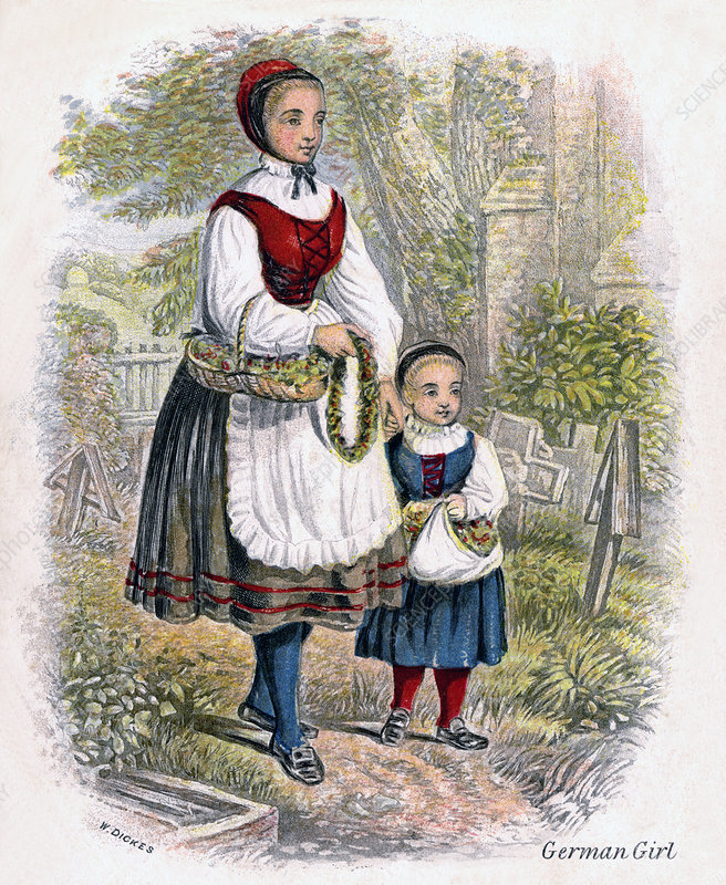 Two German Girls with Baskets of Flowers', 1809