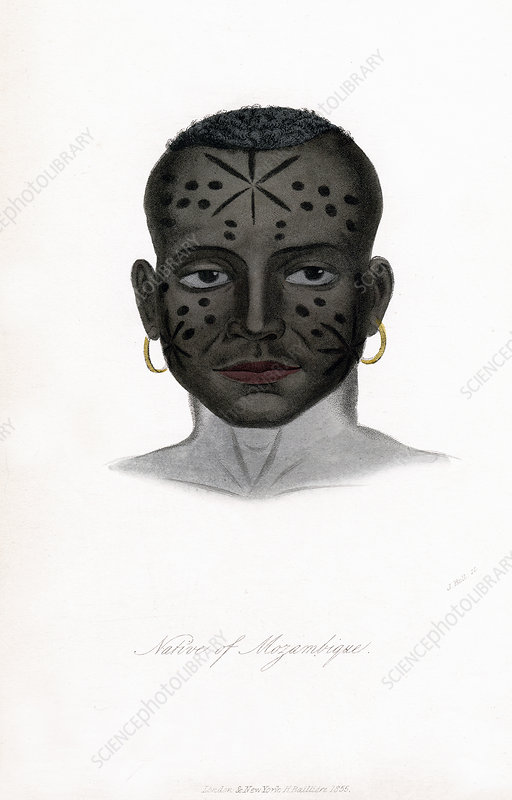 Native of Mozambique', c1850