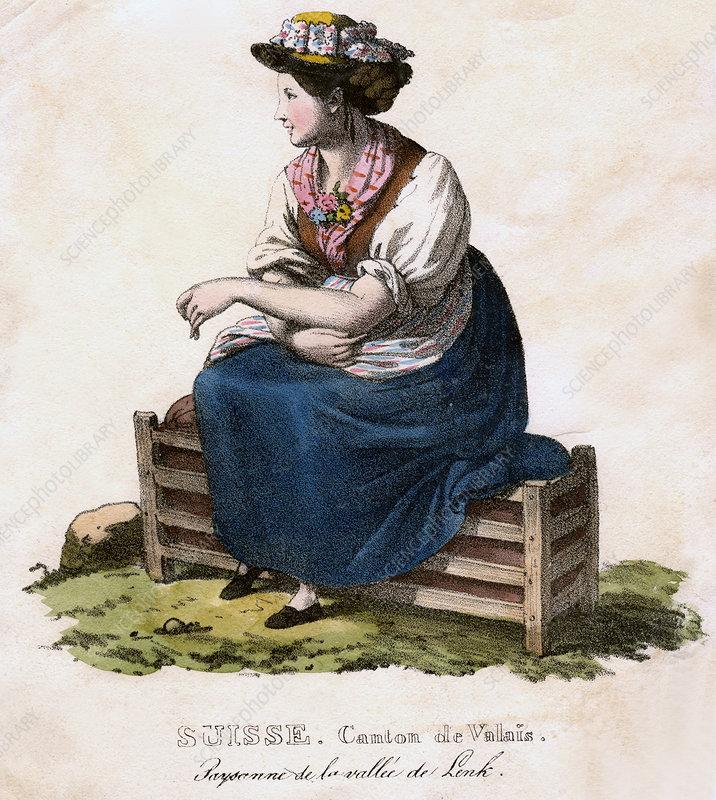 Swiss woman, c1825