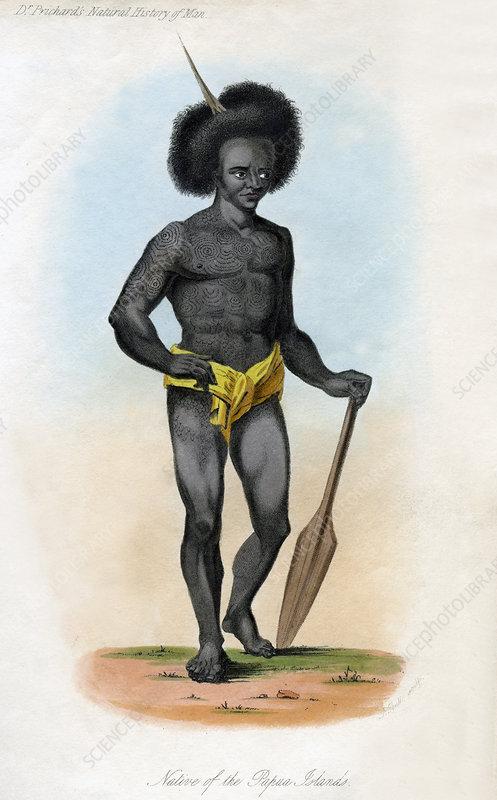 Native of the Papua Islands', c1840
