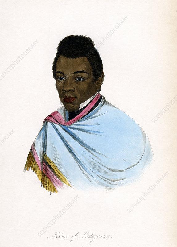 Native of Madagascar', c1850